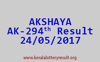 AKSHAYA Lottery AK 294 Results 24-5-2017