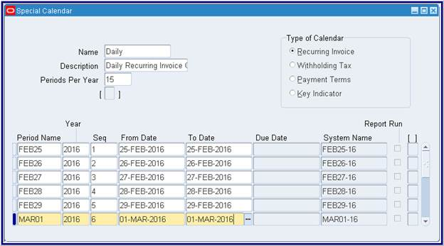 Every Year Calendar Year Vs Fiscal Year Fiscal Year End Oracle Applications Creating Oracle Payables Recurring