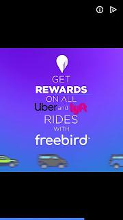 Freebird rides app mobile ad