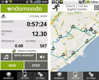 Endomondo GPS Tracking App for Android