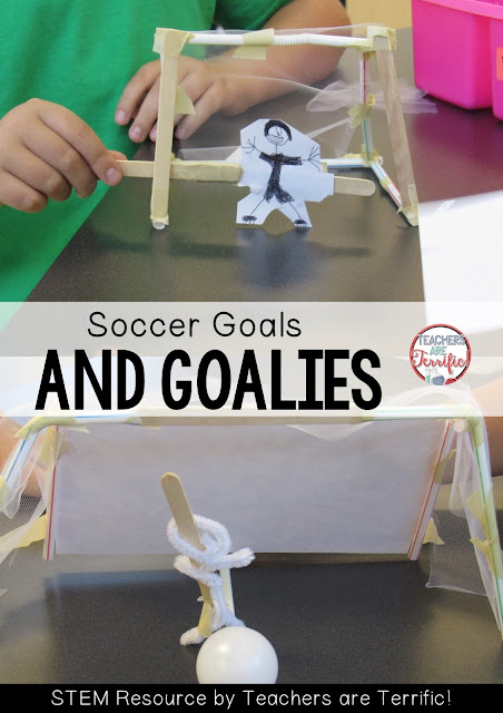 STEM Challenge: All about soccer! Build a goal and goalie! Check this blog post for more!