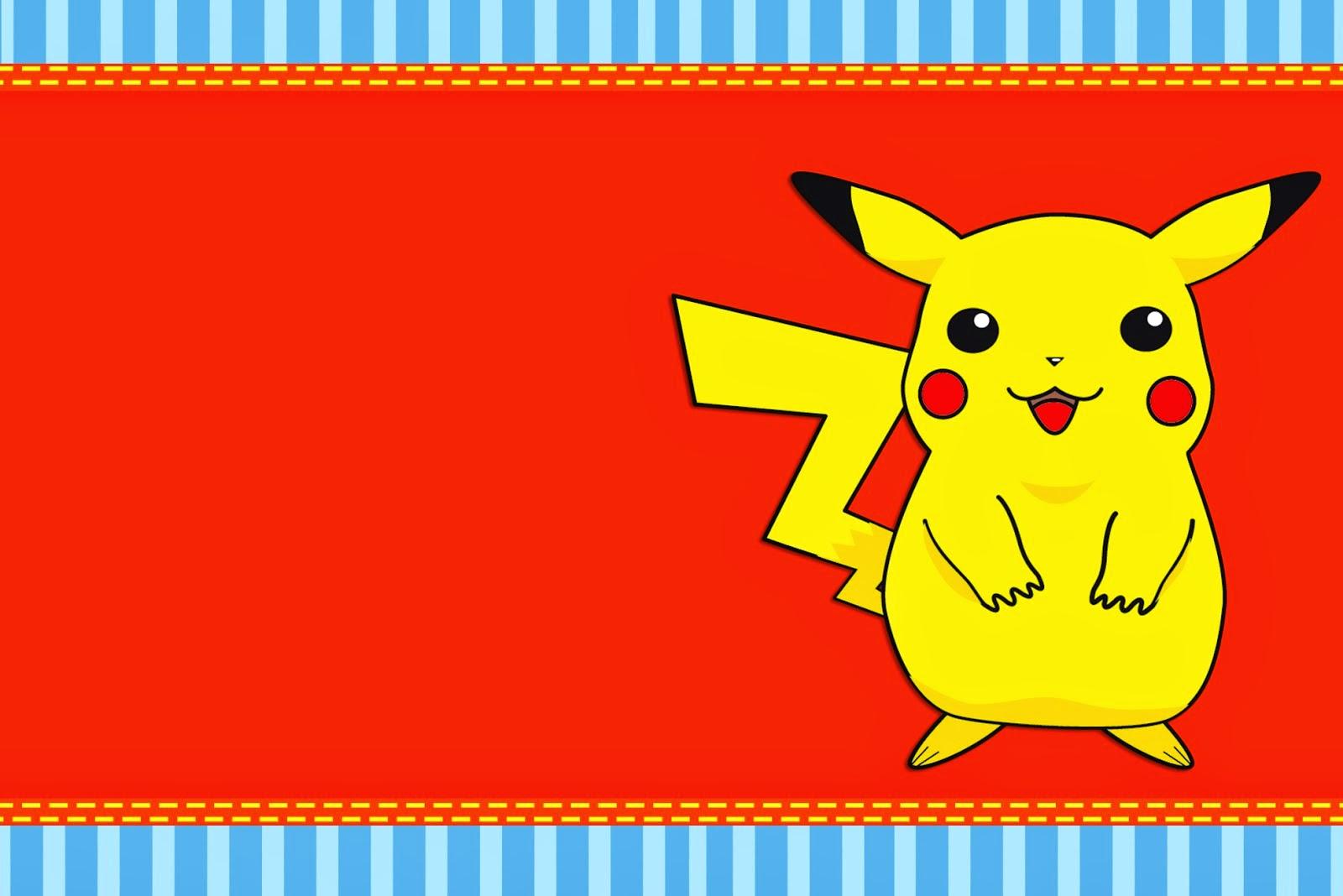 pokemon free printable invitations