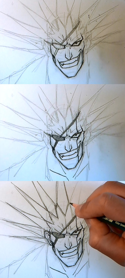 How To Draw Manga Kenpachi From Bleach