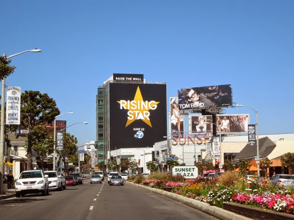 Giant Rising Star billboard Sunset Strip