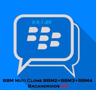 Download BBM Mod Multi Clone v3.0.1.25 Apk BBM2, BBM3, BBM4 Terbaru For Android