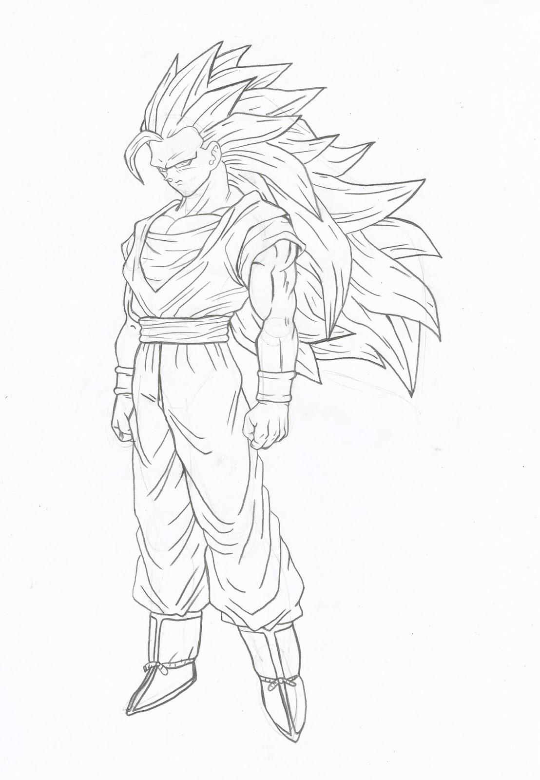 Universo Hq Como Desenhar Goku Super Sayajin 3