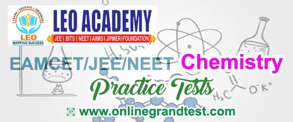 EAMCET/JEE/NEET Chemistry Practice Tests - Leo Academy