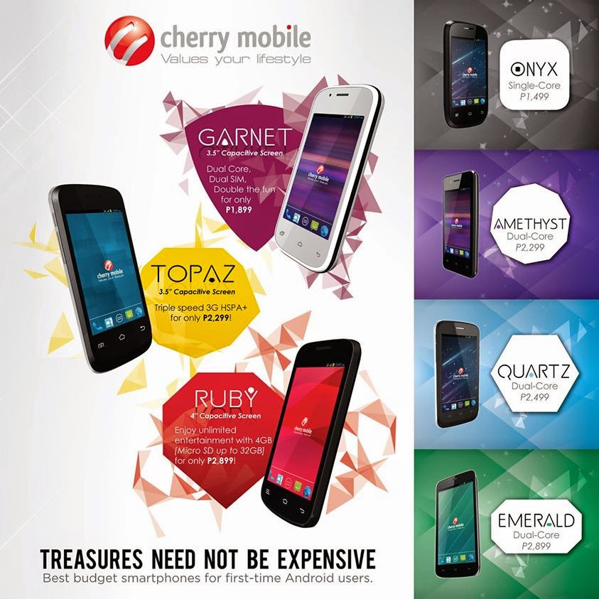 Cherry Mobile's Gem Series: Android Phones for the Budget Hunter