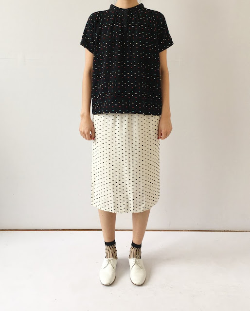 Ace & Jig Booker Blouse in Carnival & Ramona Skirt in Pearl