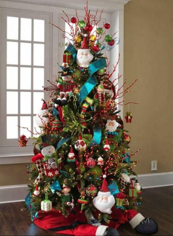 Rboles de navidad con mucho color colores en casa - Arbol de navidad decorado ...