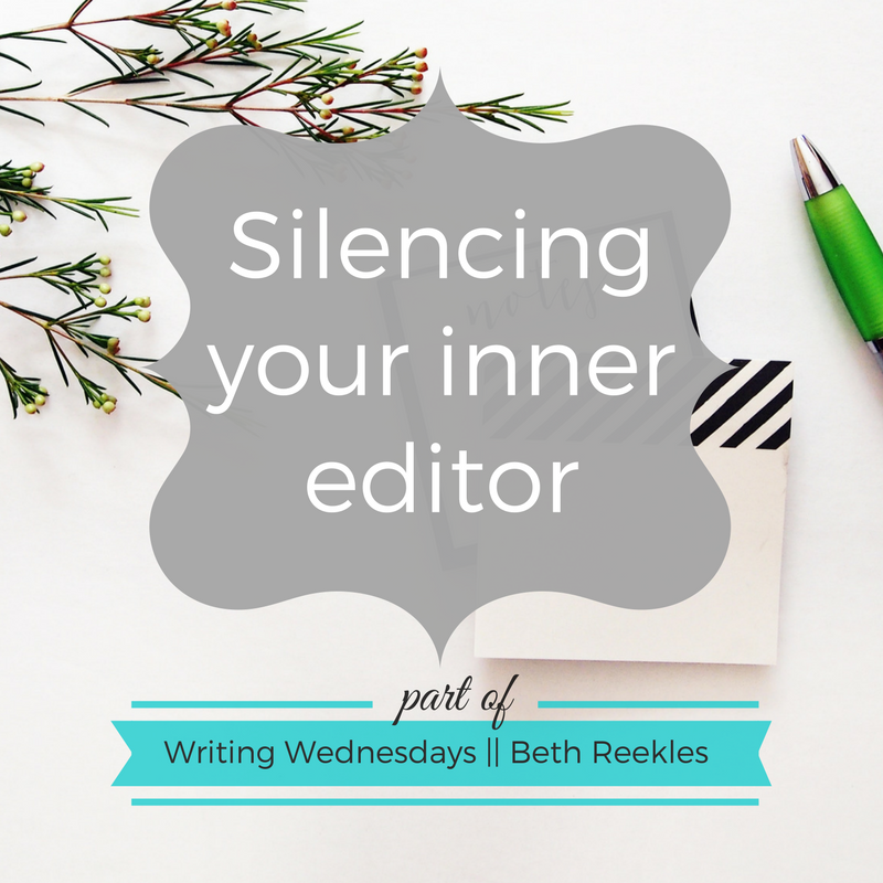 How do you stop yourself getting sucked into editing your work in progress, and silence your inner editor? I share some advice in this week's post.