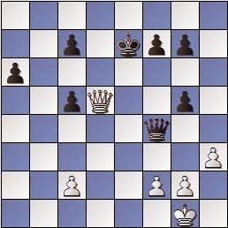 Posición de la partida de ajedrez Saborido-Medina y que se repitió tres veces