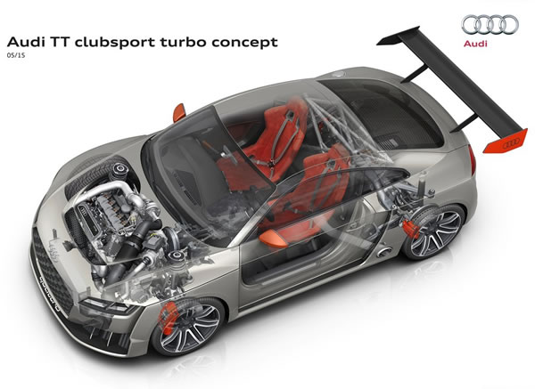 「TT Clubsport Turbo Concept」の室内の構造図