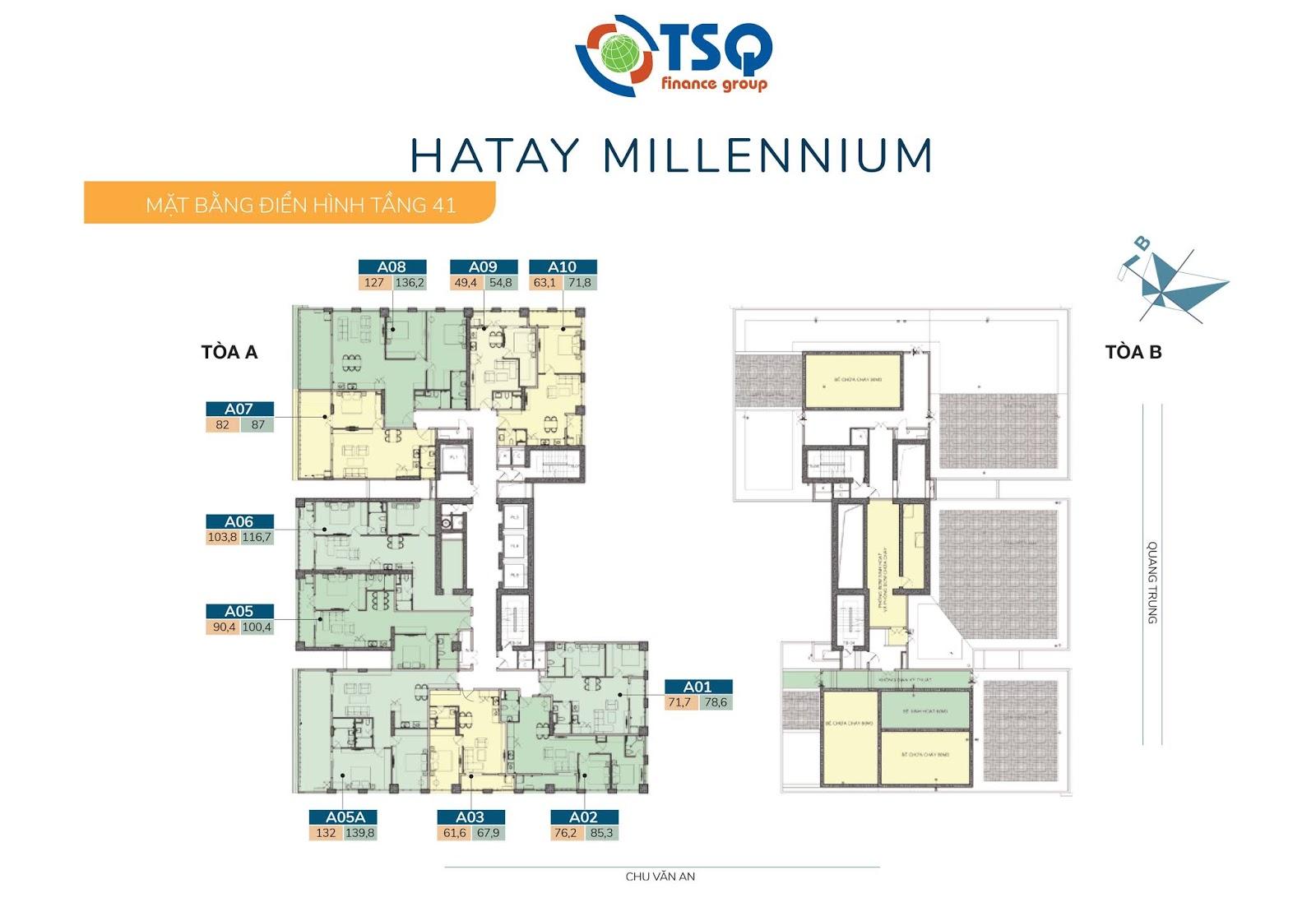 Mặt bằng thiết kế Hatay Millennium tầng 41