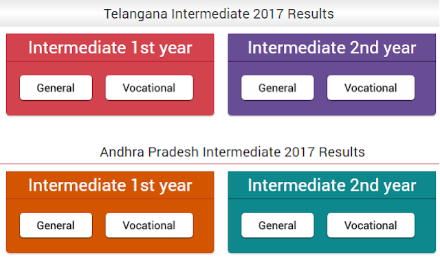 Telangana/T Inter 1st - 2nd-year results in 2017 vocational or general