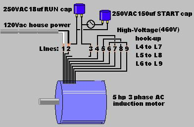 Ac-Motor-Schematic3  Wire Single Phase Delta Wiring Diagram on 3 wire start stop wiring-diagram, 3 phase motor connection diagram, 3 phase power diagram, 3 phase electrical circuit diagram, single phase panel diagram,