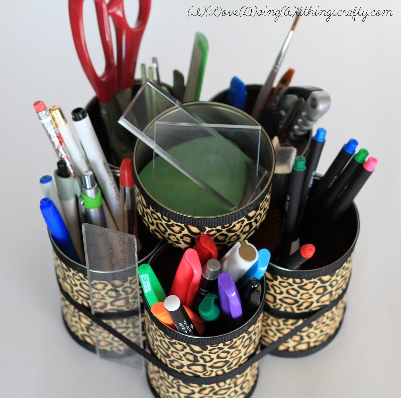 I Love Doing All Things Crafty: DIY Desk Organizer