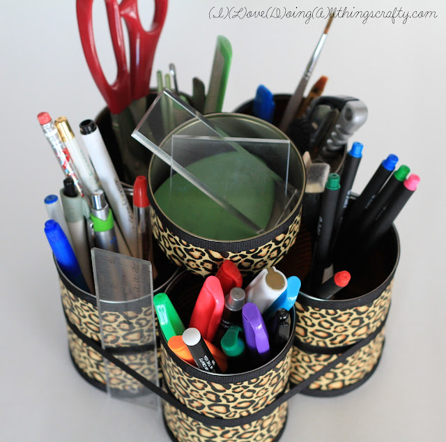 DIY Desk Organizer | Using Recycled Tin Cans