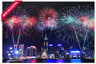 Source: Viator website. The 2017 Hong Kong New Year's Eve Fireworks Cruise will provide an unbeatable view of the fireworks against the city's skyline.