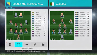 PES 2018 PS4 OPE Option File Season 2017/2018