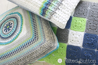 Taking Shape Pillows -- Crochet Pattern by Susan Carlson of Felted Button