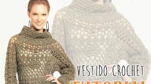 Vestido Ganchillo Moda Otoño / Invierno ~ Tutorial paso a paso