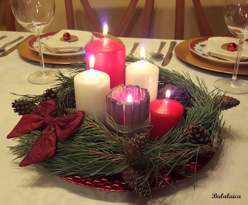 Centro de mesa navideño DIY