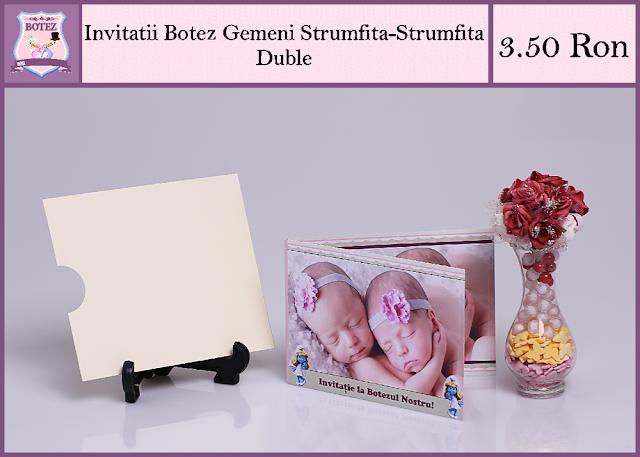 produse asortate botez gemeni fata-fata Strumfita