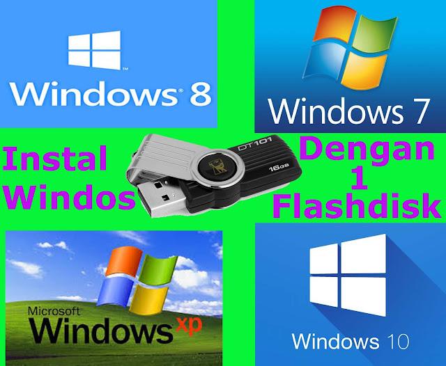 Membuat Bootable Windows XP/7/8/8.1/10 Dengan Flashdisk Menggunakan Rufus
