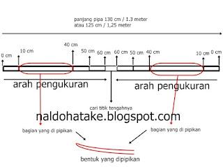 Membuat Panah dari Pipa PVC ukuran 1/2 atau 3/4