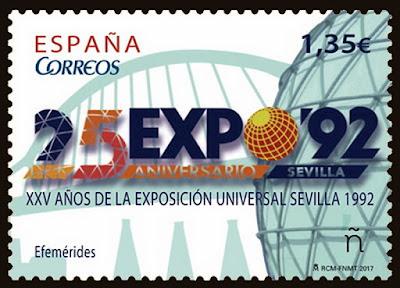 Filatelia - Sevilla -  XXV Aniversario Expo92 - 2017
