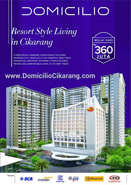 Brosur Penjualan Perdana Apartemen Domicilio Bekasi