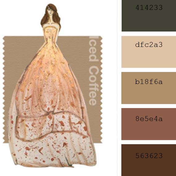 "Colores de moda Pantone primavera 2016: ""Iced coffee"""