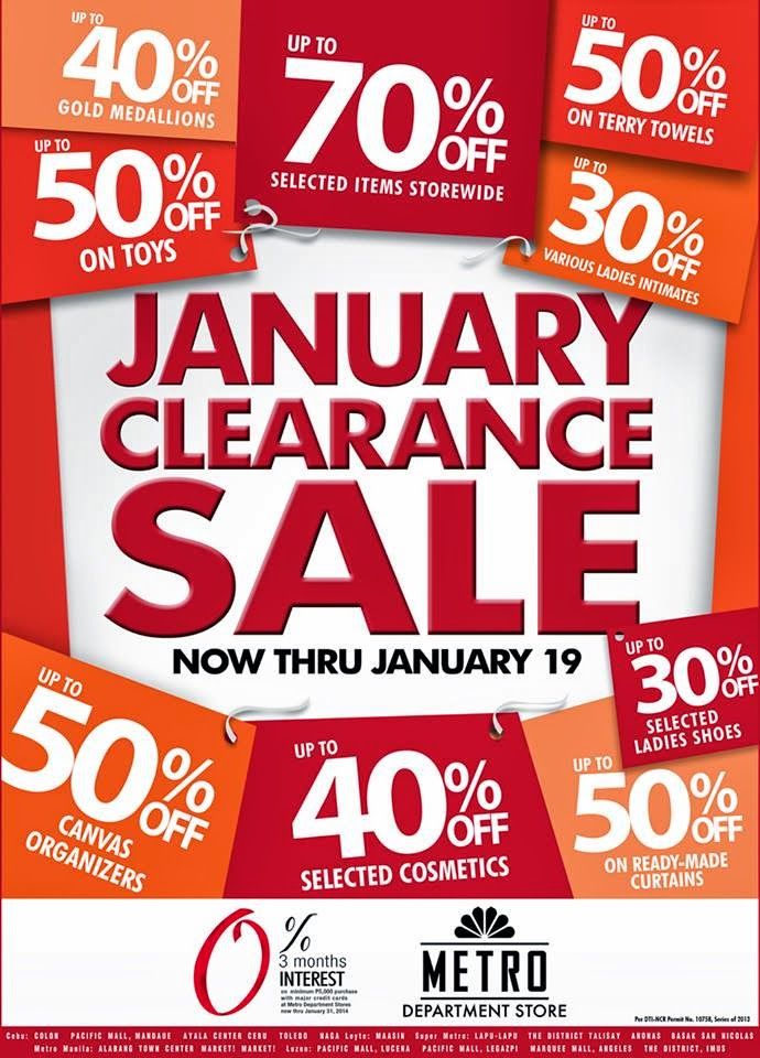 Manila Shopper Metro Stores Clearance Sale Jan 2014