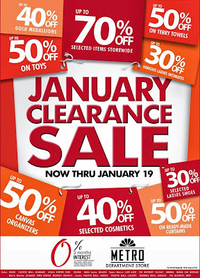 Manila Shopper Metro Stores Clearance Sale Jan 2014