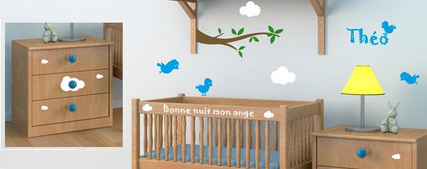 stickers muraux des d co originales avec des autocollants la chambre de b b un monde de. Black Bedroom Furniture Sets. Home Design Ideas