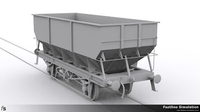 Fastline Simulation: A render from a slightly elevated viewpoint of a re-bodied dia. 1/146 hopper.