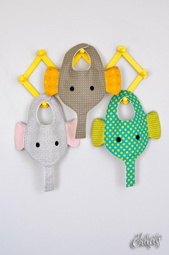 Giggles the Elephant Baby Bib | Crochet elephant pattern | 1024x680