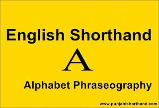 English Shorthand [A] Alphabet Phraseography,