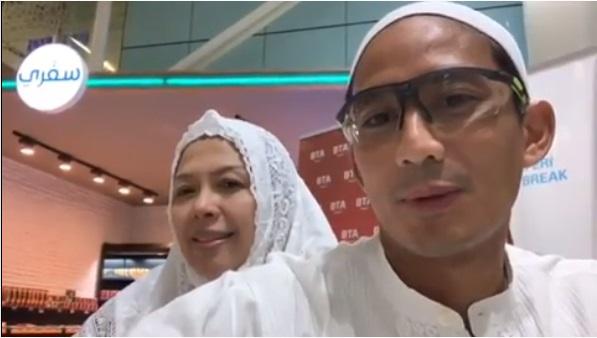 Vlog Usai Umroh, Sandiaga: Maaf Kami Tidak Posting-posting, Fokus Ibadah