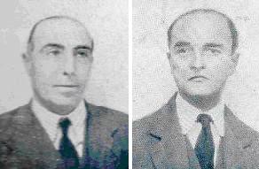 Los ajedrecistas Ramón Cunillera y Manuel Sererols
