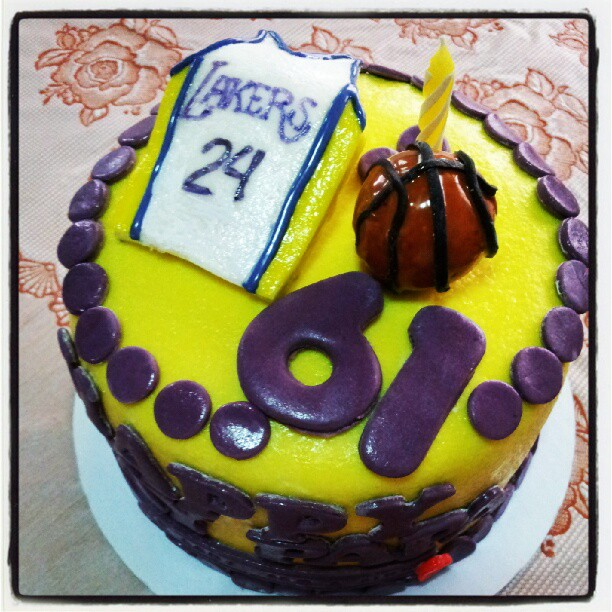 Artsy Craftsy Me Lakers Themed Cake