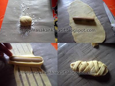 Cara Membentuk Roti Manis Isi Sosis 3