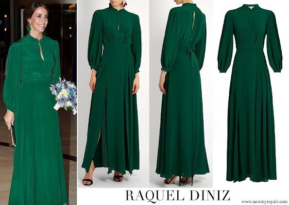 Princess Marie wore Raquel Diniz Green Armonia Silk Georgette Dress