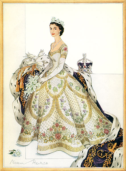 British Patriotic Samplers: Queen Elizabeth II: coronation ...Queen Elizabeth Coronation Dress