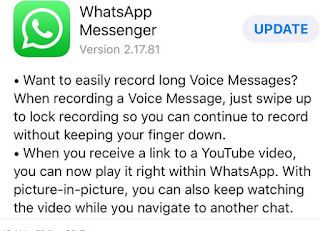 Whatsapp for ios update