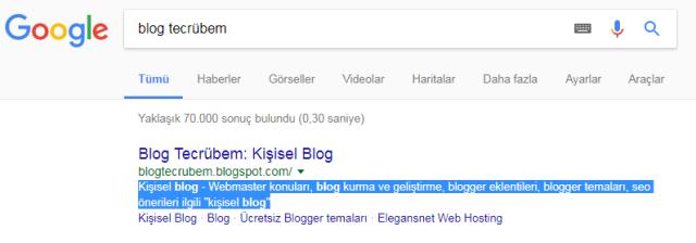 Blogger arama açıklaması