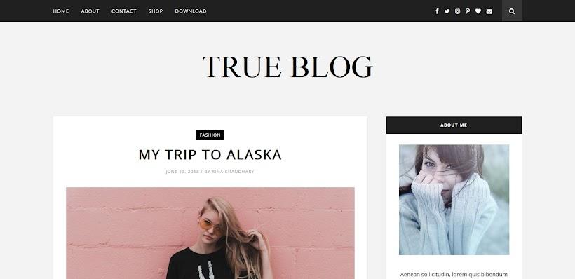 TrueBlog Free Blogger Template