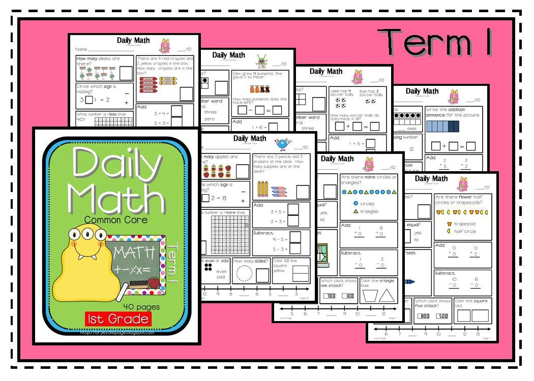 Lory's 2nd Grade Skills: Grade 1 Daily Math UP!!