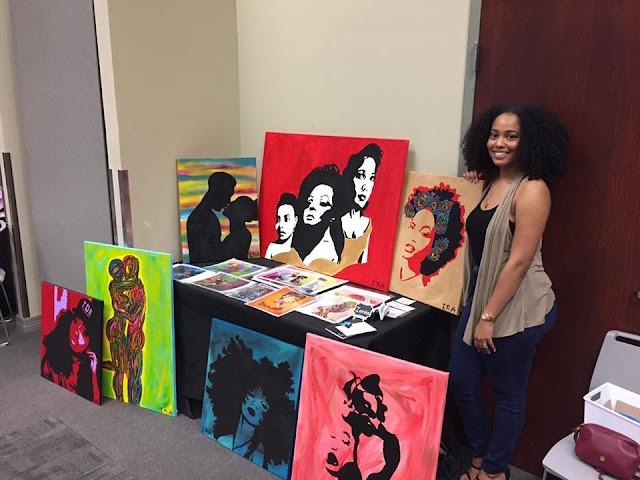 "Meet Pop Art Painter ""Ieesha Naeema"" from Chicago, Illinois"